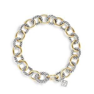 David Yurman Oval Link Bracelet 18k Gold & Silver
